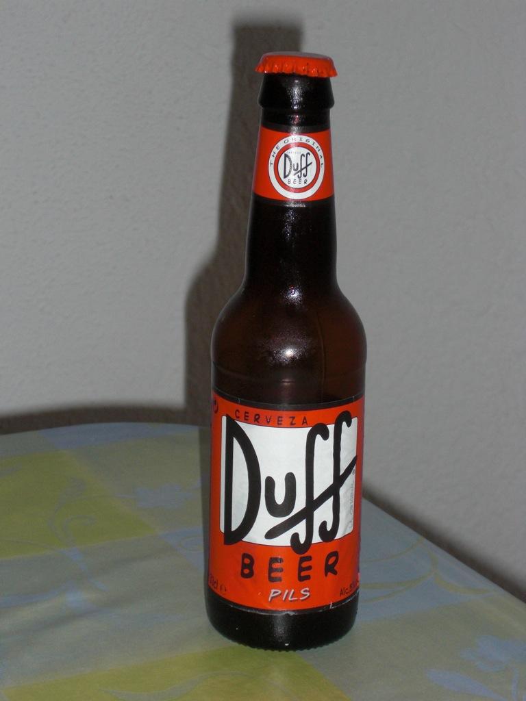 Abajo de la botella de cerveza