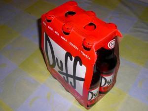 Una caja de auténtica Duff
