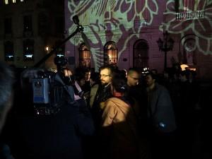 Almeida en la manifestación de Barcelona